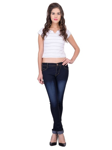 LONDON LOOKS BLACK SLIM FIT LADIES JEANS
