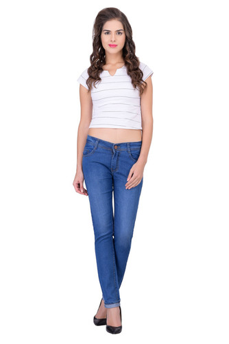 LONDON LOOKS LIGHT BLUE SLIM FIT LADIES JEANS