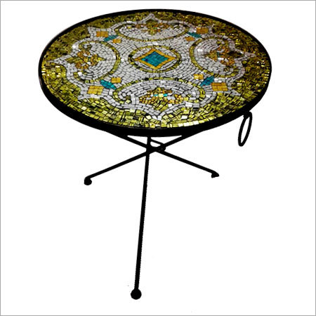 Mosaic Top Round Table