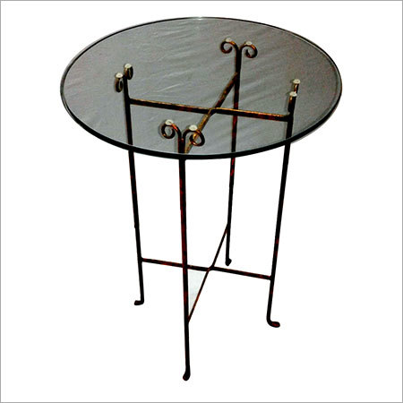 Clear Glass Folding Round Table