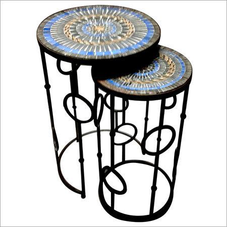 Mosaic Top Nesting Table Set