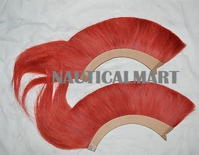 Red Color Natural Horse Hair Plume ( Set Of Two)