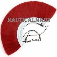 Roman Helmet Red Plume With Metal Frame