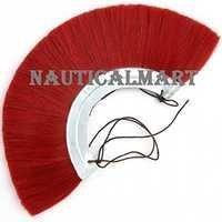 Roman Helmet Red Plume With Metal Frame