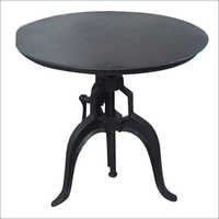 Cast iron Round Top Industrial Crank Table