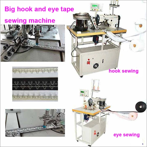 Large hook and eye tape sewing machine,automatic