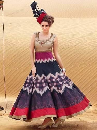 Bhagalpuri Printed Designer Gown