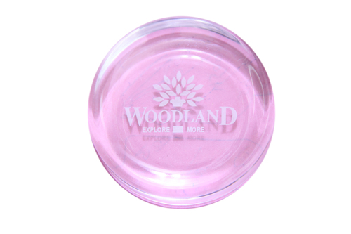 Trasperant engraved paperweight
