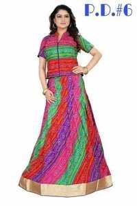 Festival Offer Bhagalpuri Party Wear Gown