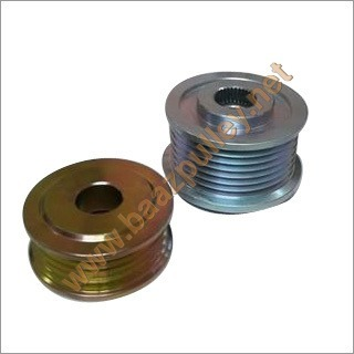Chrome Double Alternator Pulley