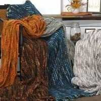 Designer knitted-throw