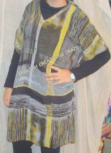 Polyester Printed Kaftans with Lace