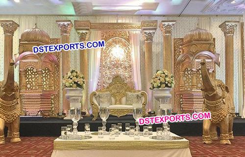 Rajasthani Rajwada Indian Wedding Decor Stage