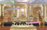 Rajasthani Rajwada Indian Wedding Decor Stage