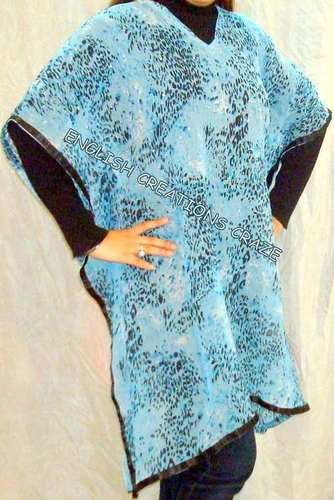 Cotton Printed Kaftans with Lace