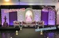 English Wedding Reception Stage Decor