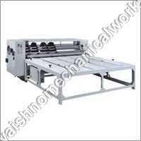 Semi Automatic Flexo Printer Slotter Machine 3 Ply