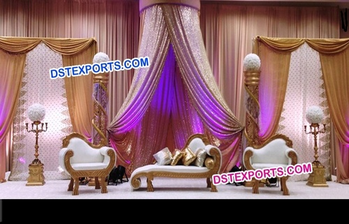 Royal Carved Wedding Couch