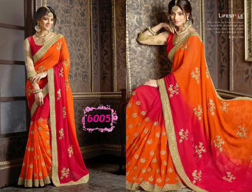 Bollywood Fancy Designer Party Wear Saree Sari