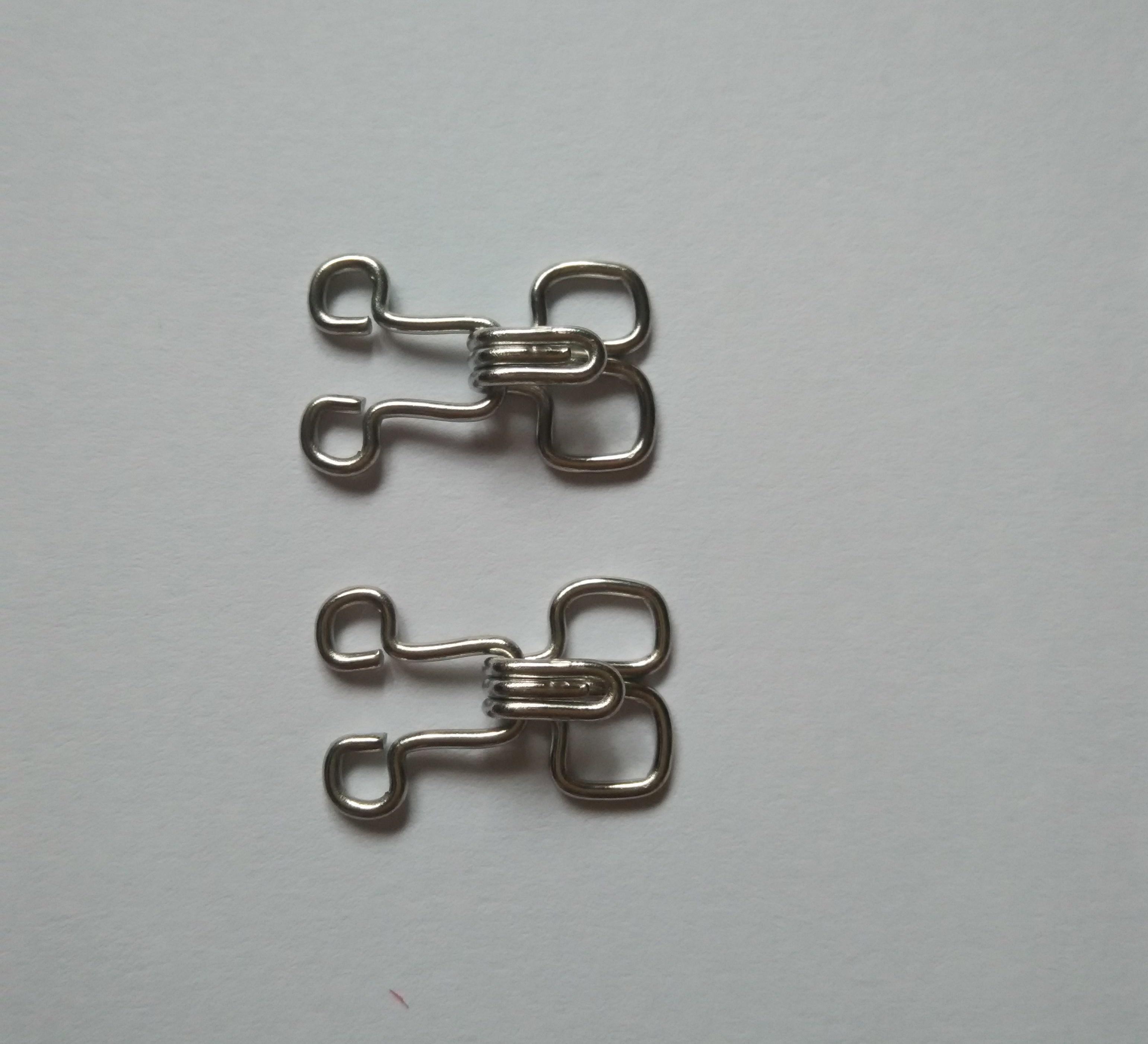 Heavy gauge 1.0mm stainless steel hook and eye metals