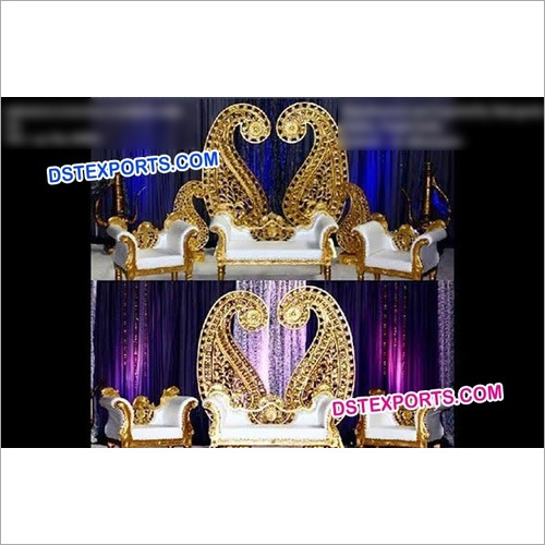 Muslim Wedding Stage Paisley Frames