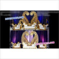 Muslim Wedding Stage Paisley Frames