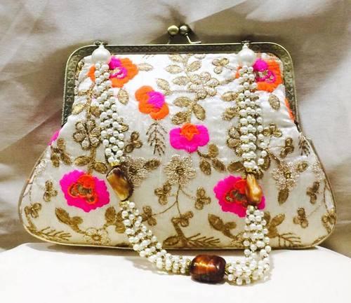 Beautiful Handmade Pearl Clutch