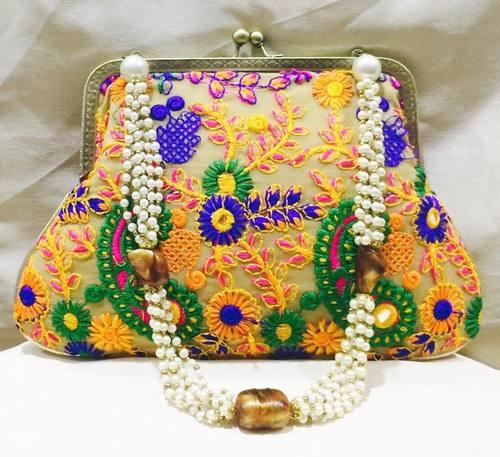 Handmade Pearl Potli Bag