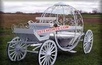White English Cinderella Horse Carriage