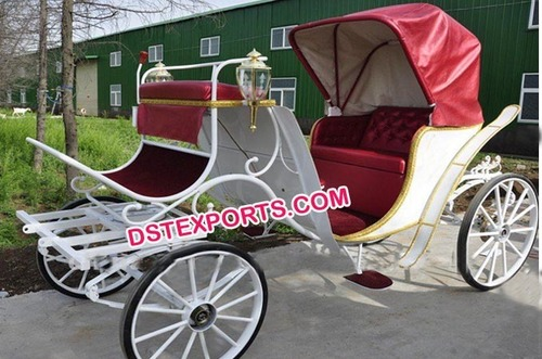 Popular Victorian Style Wedding Horse Drawn Carriage