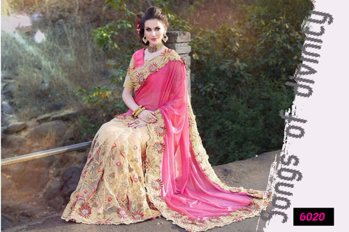 Festival Best Offer Bollywood Designer Fancy Party Wear Saree Sari