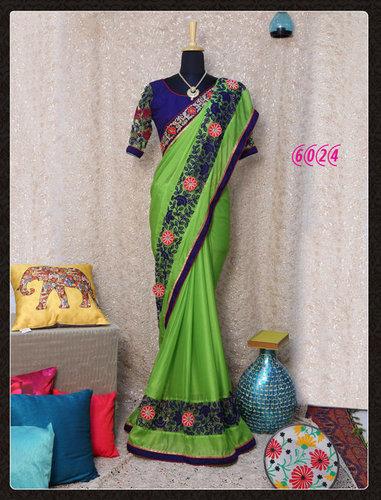 Fancy Stylish Latest  Designer Printed Silk Saree