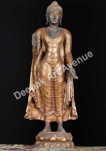 Standing Buddha Marble Statue