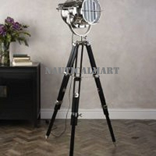 Designer Floor Lamp comes with Black Color Wooden Tripod Lamp