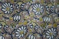 COTTON TWILL HAND BLOCK PRINTED FABRICS