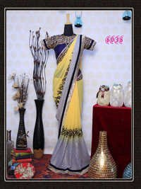 Fancy Designer Stylish Heavy Bollywood Party Wear Saree Sari