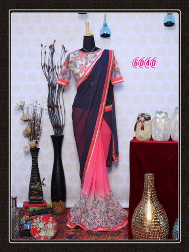Stylish Designer Bollywood Party Wear Saree