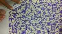 Aari Work Embroidered Fabric