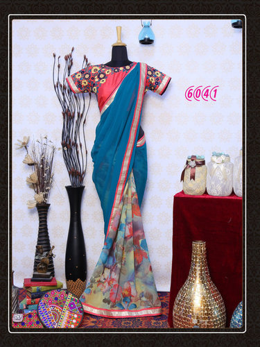 Festival Offer Bollywood Designer Fancy Party Wear Saree Sari
