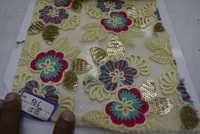 Colorful Embroidered Fabric