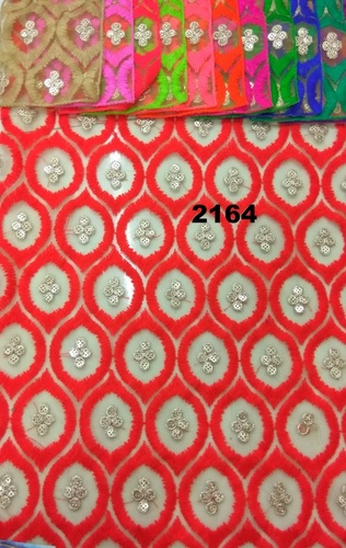 Georgette Embroidered Fabric