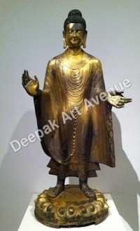 Met Gilt Bronze Buddha Statue