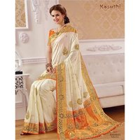 Cutwork Silk Saree