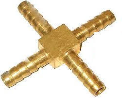 Brass 4-way Connector