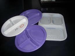 Disposal Fiber Hips Thermocol Dona Plate