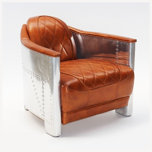Aviator Leather Sofa Chairs