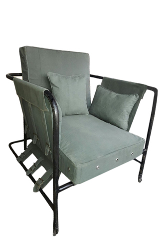 Military Canvas single seater Sofa