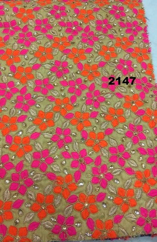 Silk Embroidered Garment Fabric