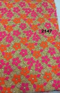 Silk Embroidered Garment Fabric