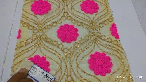 Zari Embroidered Fabric
